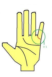 結婚線が小指に伸びる手相