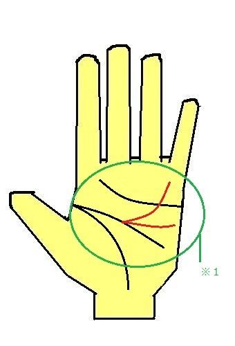 頭脳線の三又の手相