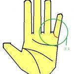 結婚線が小指に向かう手相