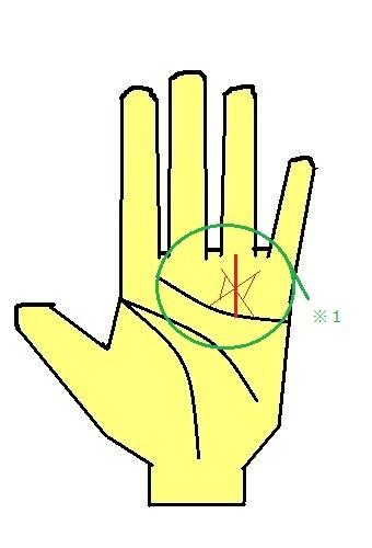 手相の太陽線のスターと三角紋