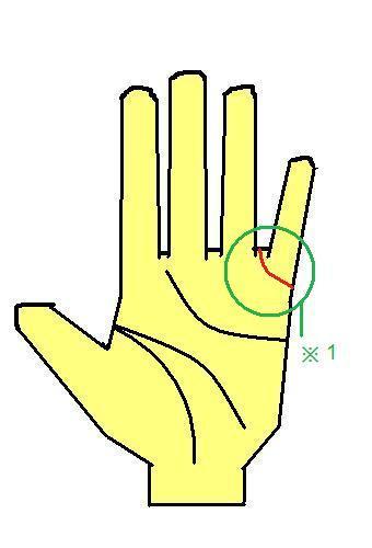 結婚線が薬指と小指のあいだに入る手相