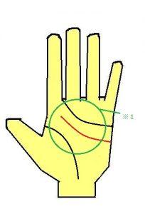 頭脳線,外側,手相