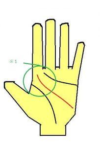 アネゴ肌の頭脳線