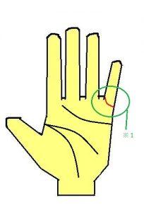 結婚線が急上昇カーブをして小指につく手相