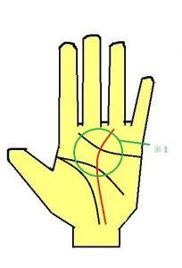 運命線が薬指に伸びる手相